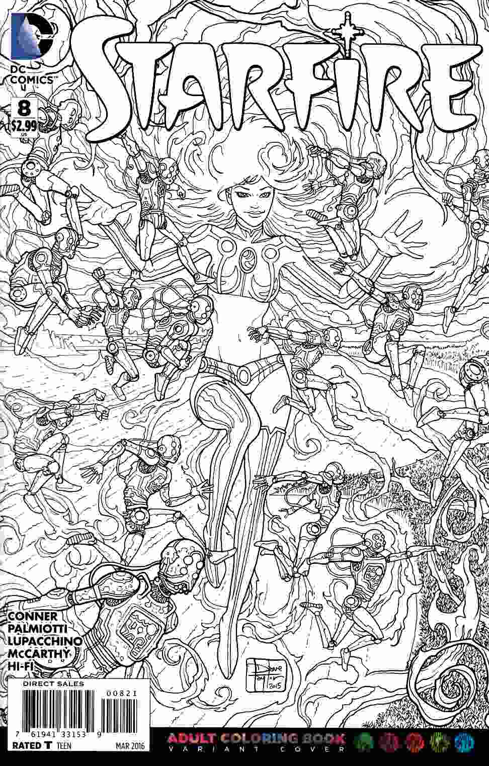 Starfire #8 Adult Coloring Book Variant Edition [DC Comic] THUMBNAIL