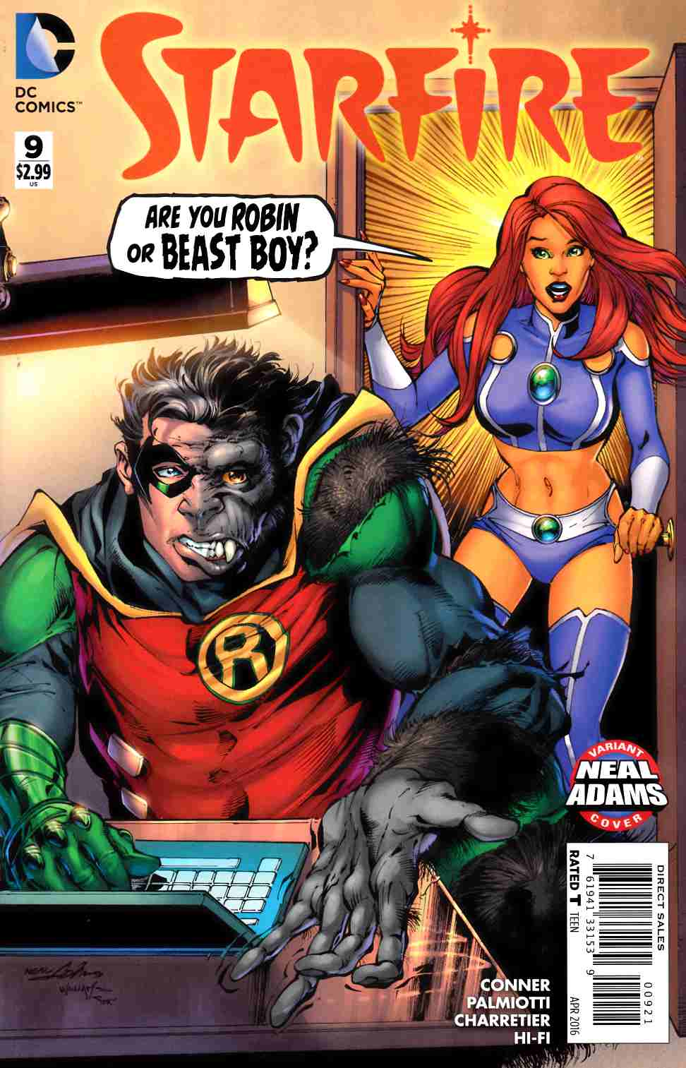 Starfire #9 Neal Adams Variant Cover [DC Comic] THUMBNAIL