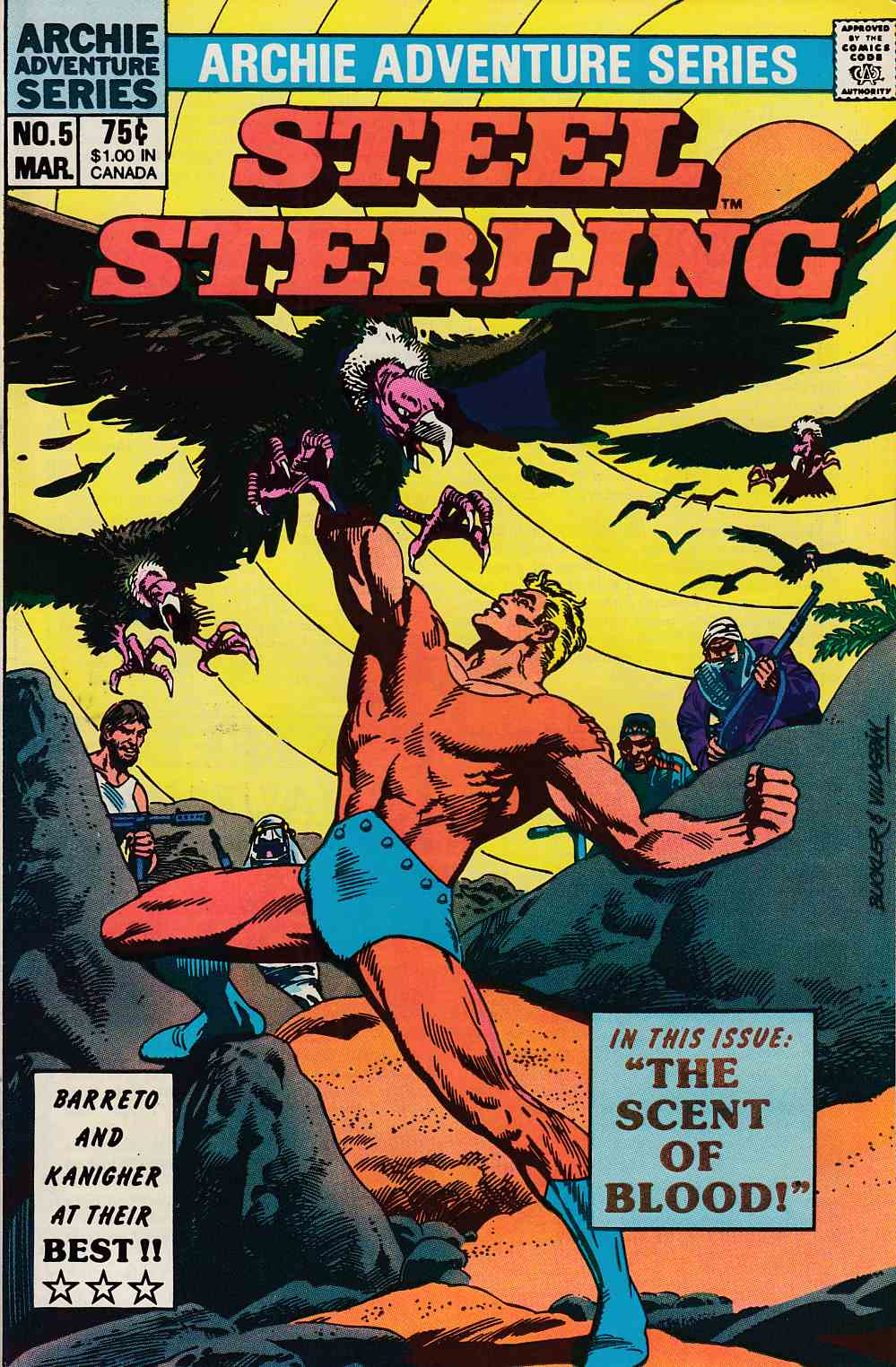 Steel Sterling #5 Near Mint (9.4) [Archie Comic] THUMBNAIL