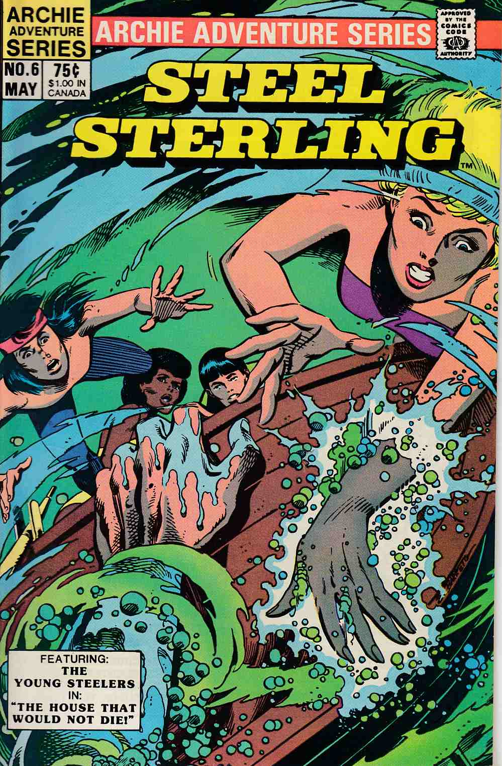Steel Sterling #6 Near Mint (9.4) [Archie Comic] THUMBNAIL