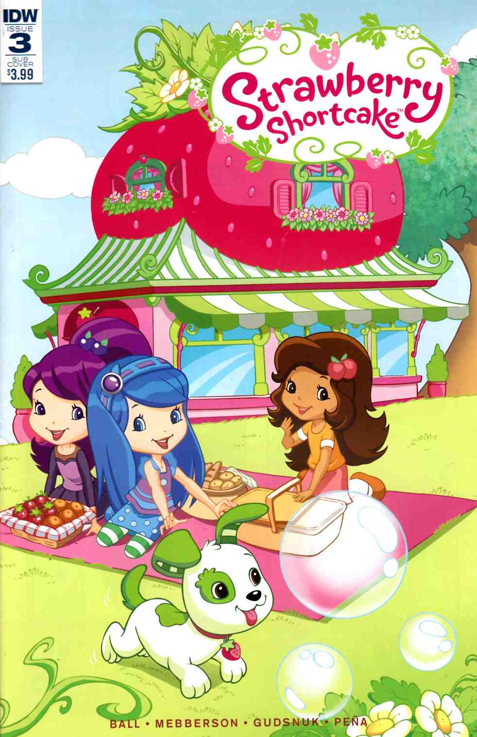 Strawberry Shortcake #3 Subscription Cover [IDW Comic]