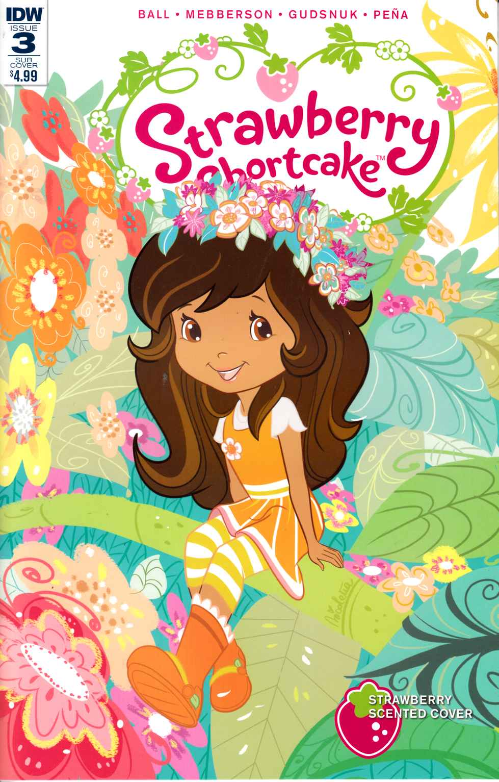 Strawberry Shortcake #3 Scented Variant Cover [IDW Comic] LARGE