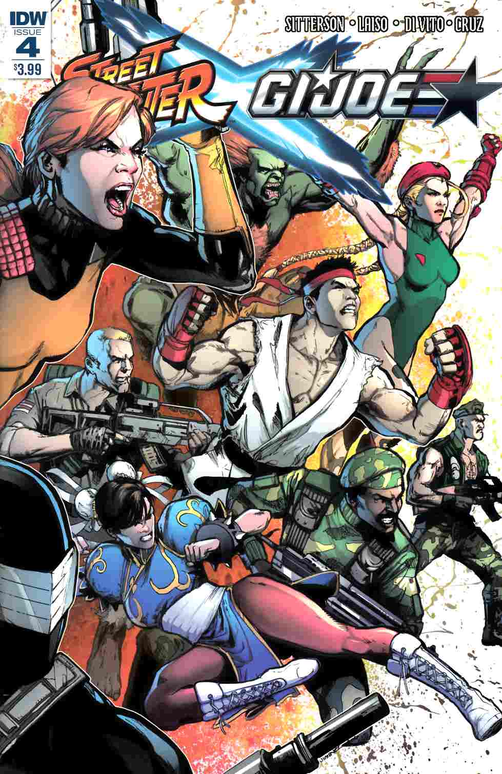Street Fighter x GI Joe #4 [IDW Comic] LARGE