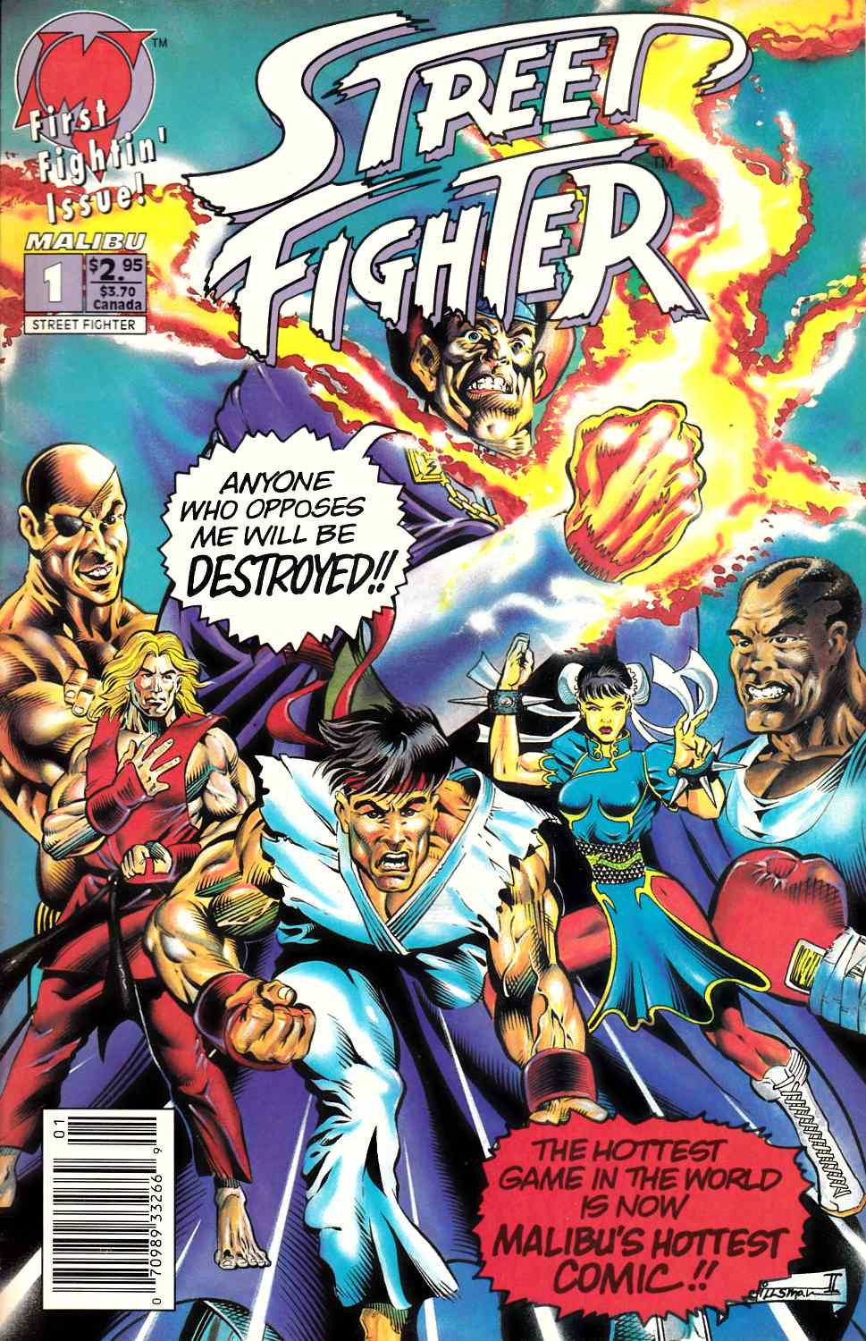 Street Fighter #1 Newsstand Edition Very Fine (8.0) [Malibu Comic] LARGE
