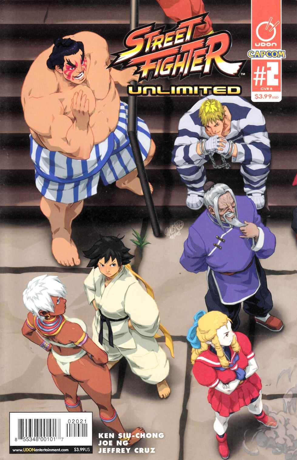Street Fighter Unlimited #2 Cover B- Cruz Ultra Jam [Udon Comic]