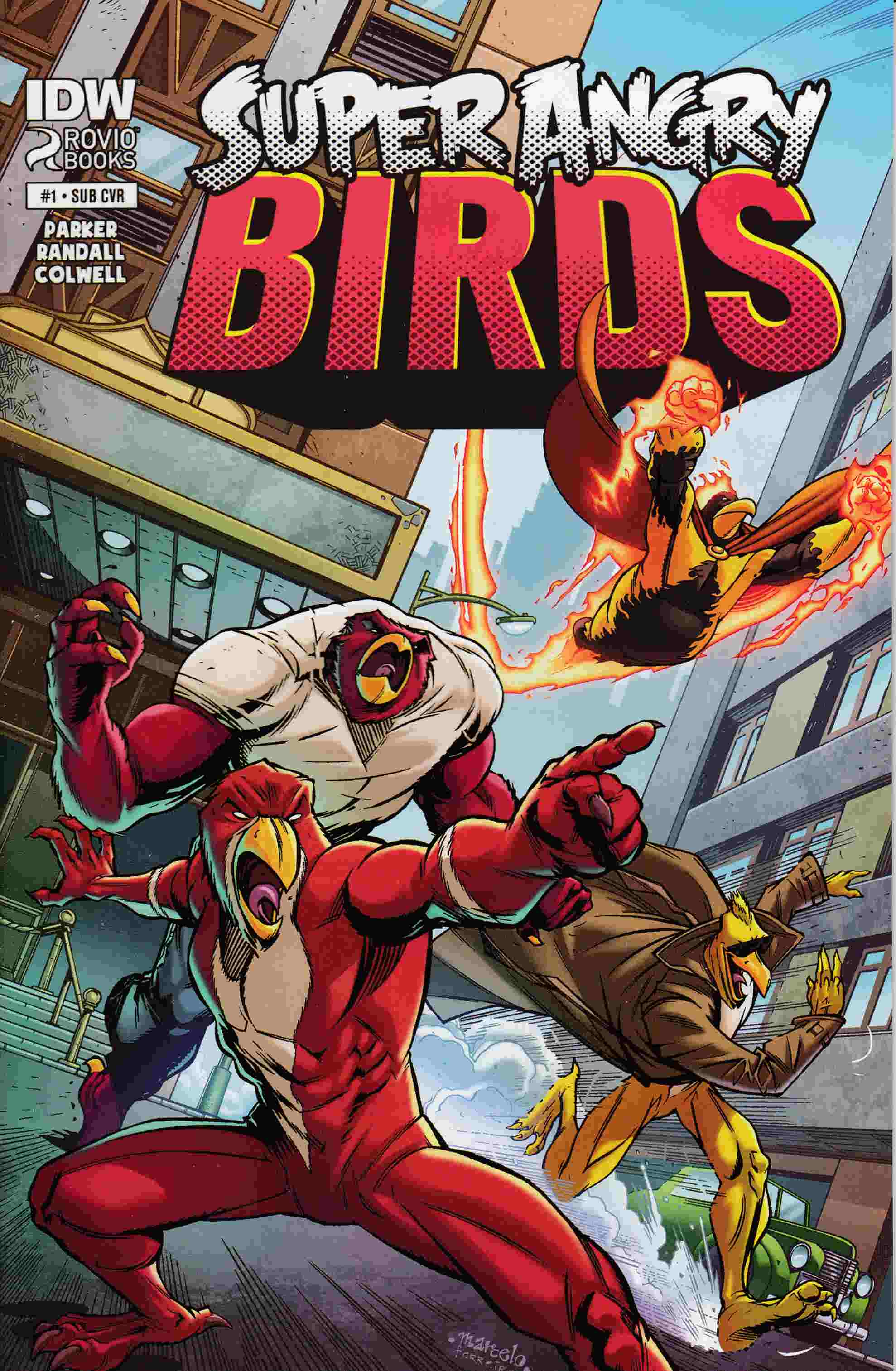 Angry Birds Super Angry Birds #1 Subscription Cover [IDW Comic] THUMBNAIL