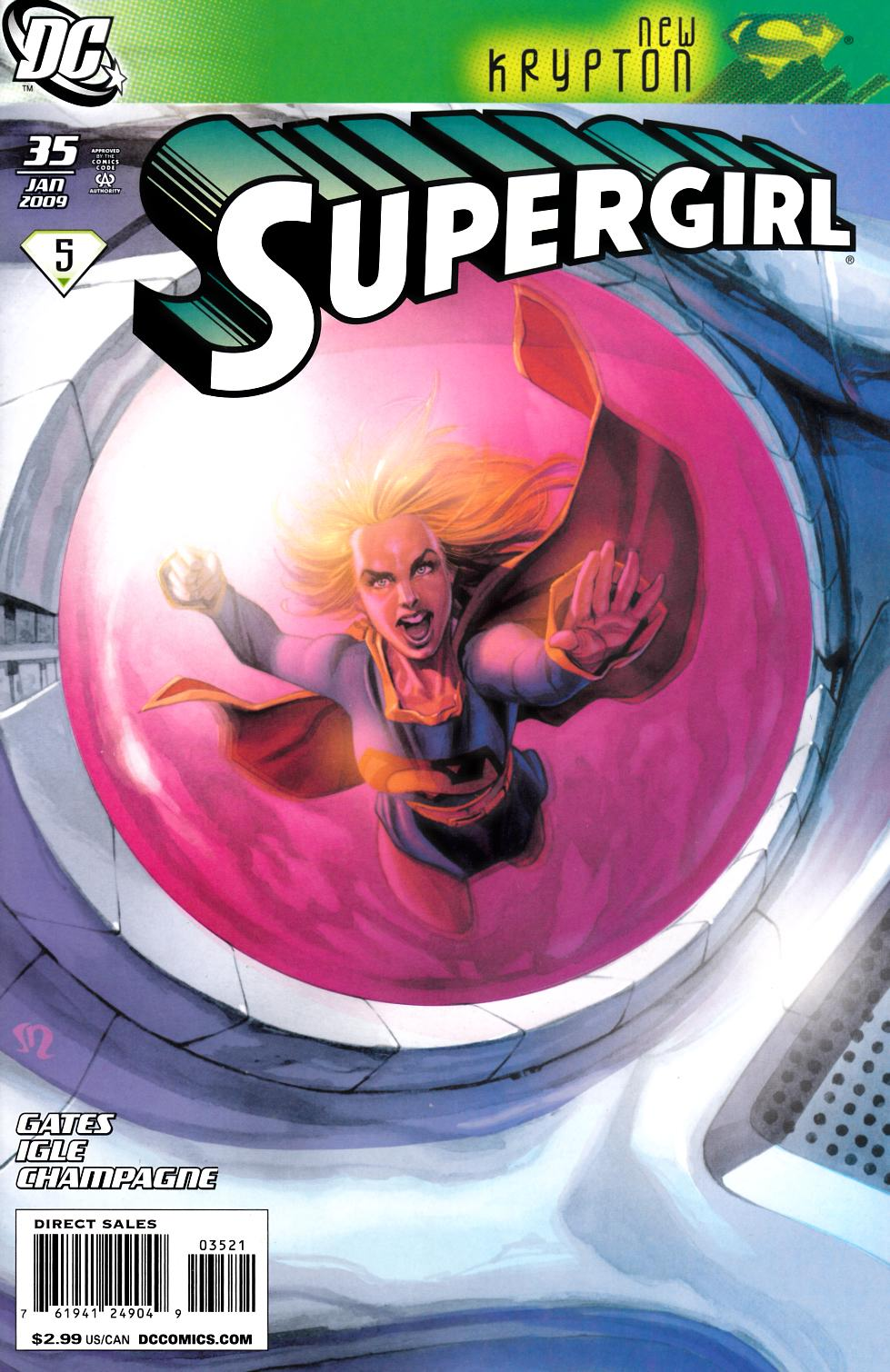 Supergirl #35 Roux Variant Cover Near Mint (9.4) [DC Comic]_LARGE
