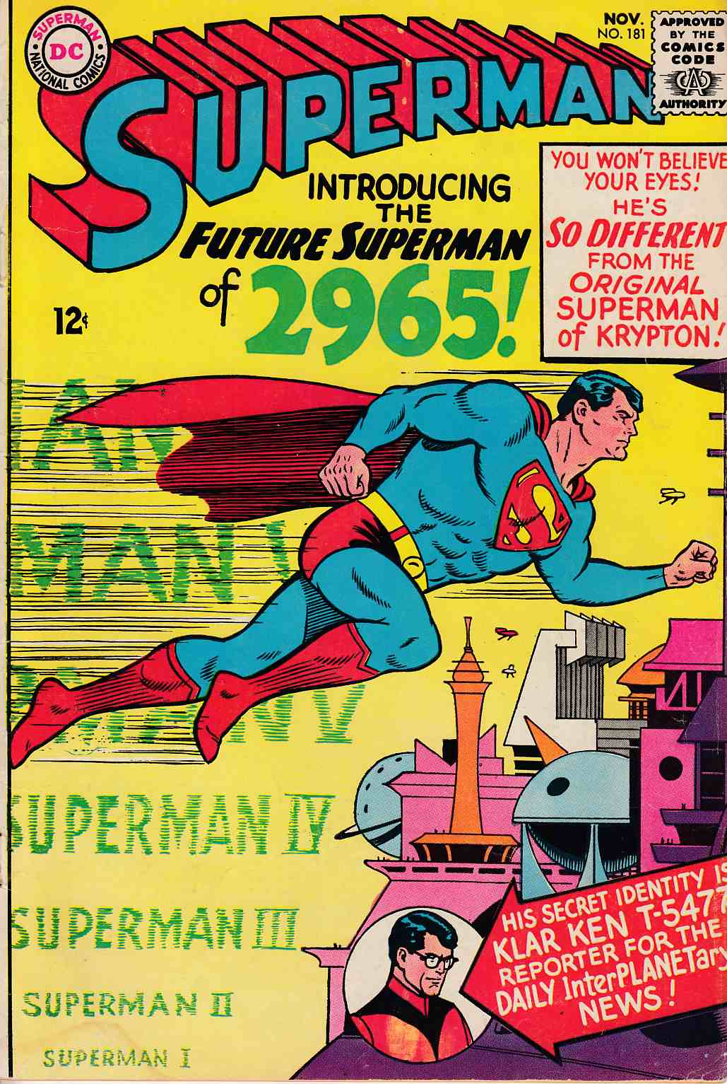 Superman #181 Very Good (4.0) [DC Comic]