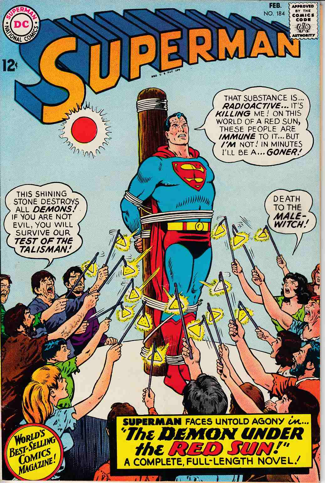 Superman #184 Very Fine Minus (7.5) [DC Comic] THUMBNAIL