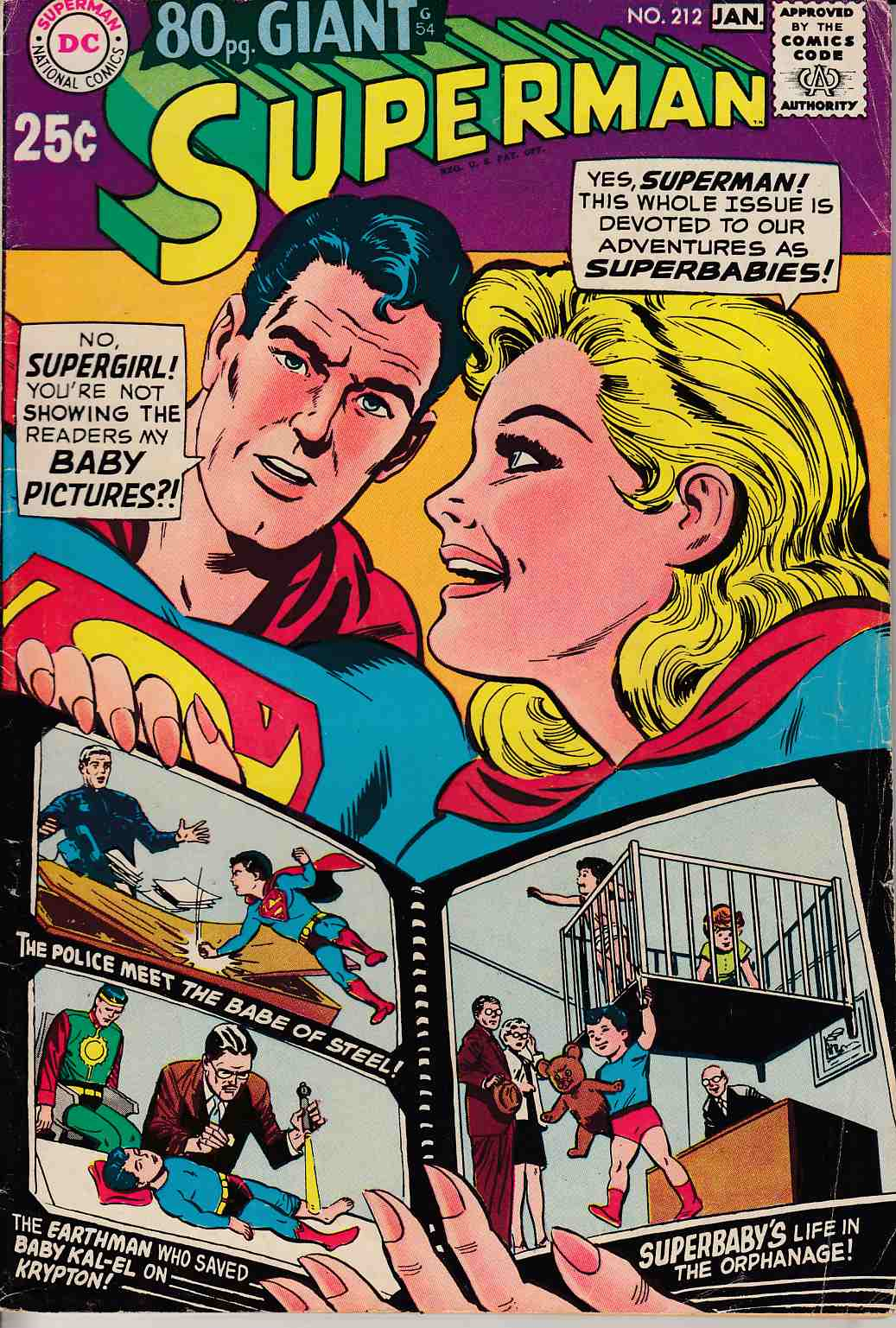 Superman #212 Very Good Minus (4.5) [DC Comic] LARGE