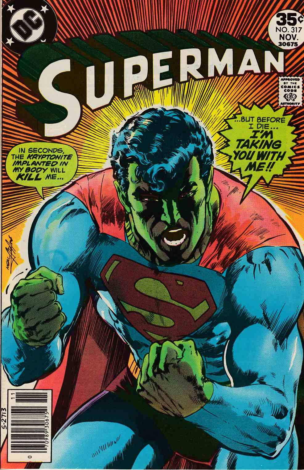 Superman #317 Near Mint Minus (9.2) [DC Comic] LARGE