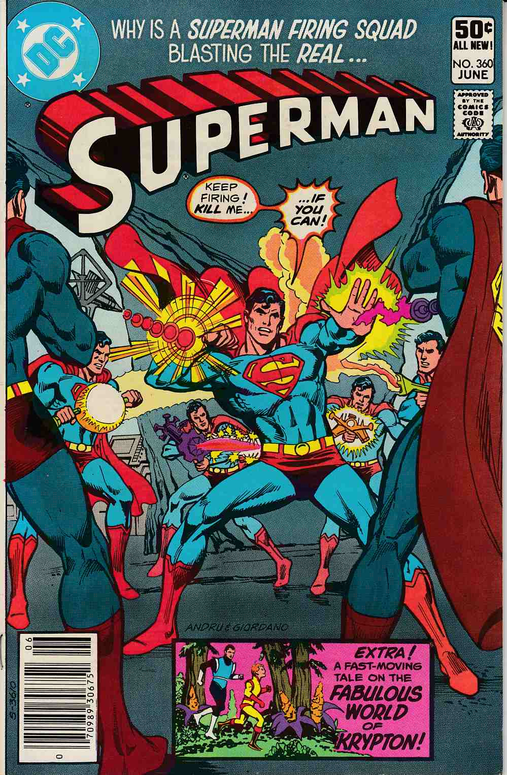 Superman #360 Newsstand Edition Fine (6.0) [DC Comic] LARGE