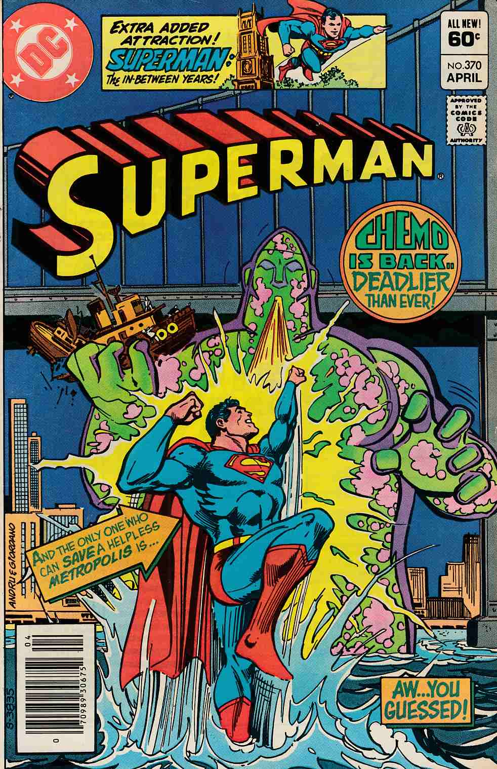 Superman #370 Newsstand Edition Fine (6.0) [DC Comic] LARGE