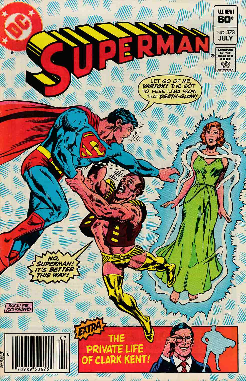 Superman #373 Newsstand Edition Very Fine Minus (7.5) [DC Comic] LARGE