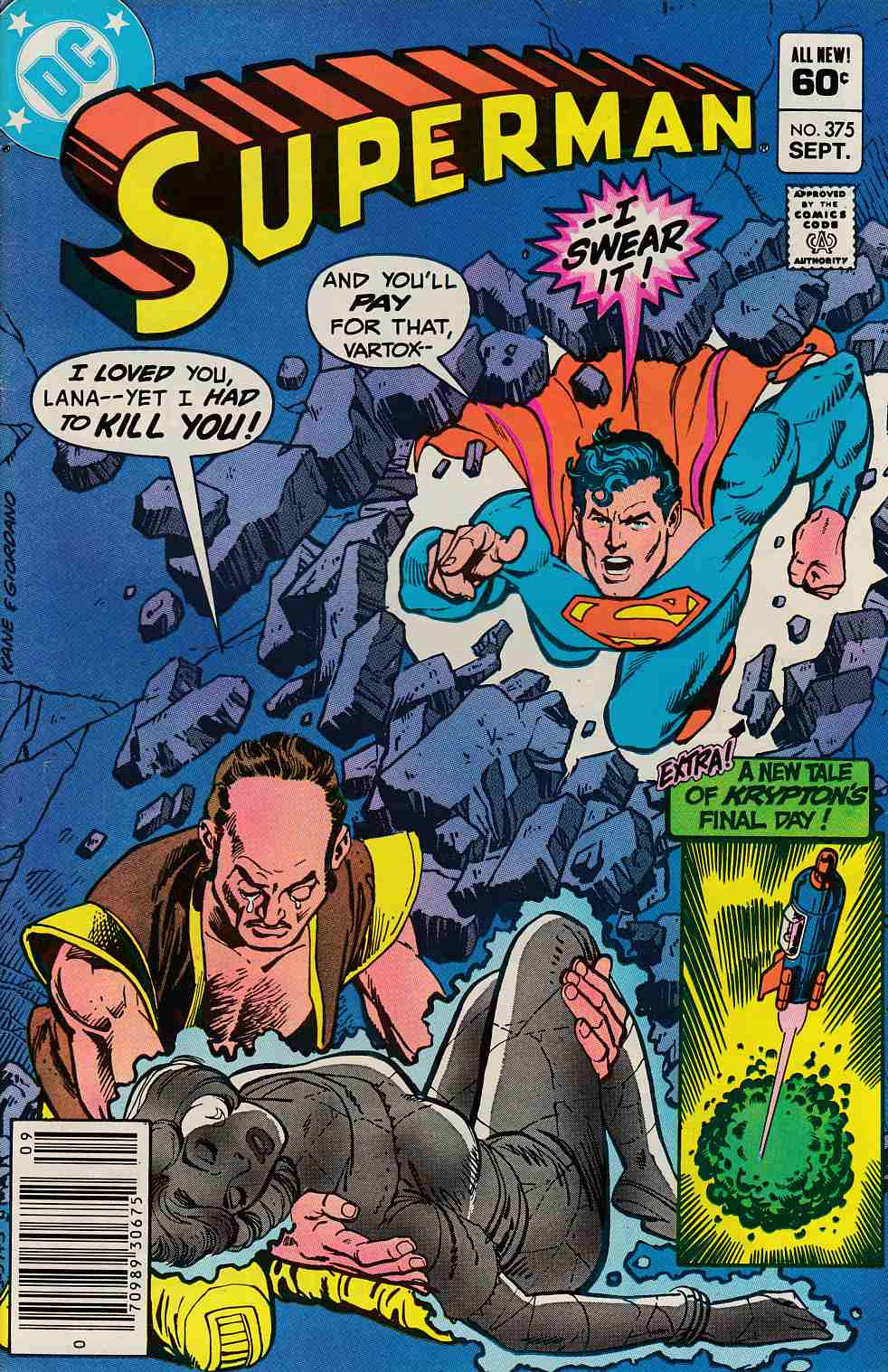 Superman #375 Newsstand Edition Very Fine Minus (7.5) [DC Comic] LARGE