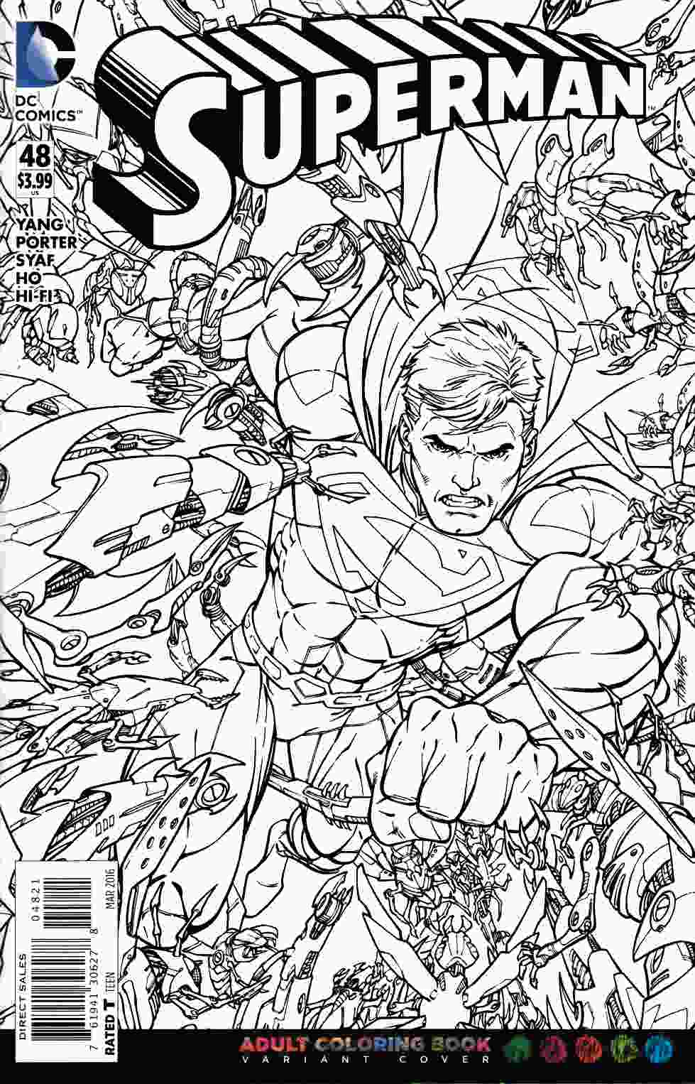 Superman 48 Adult Coloring Book Variant Edition Dc Comic