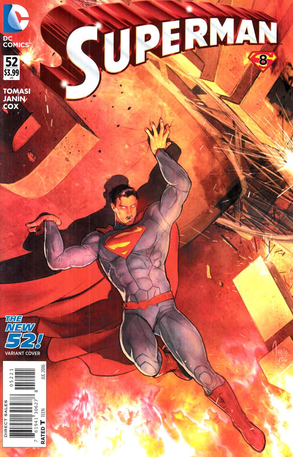 Superman #52 Janin Variant Cover [DC Comic] LARGE