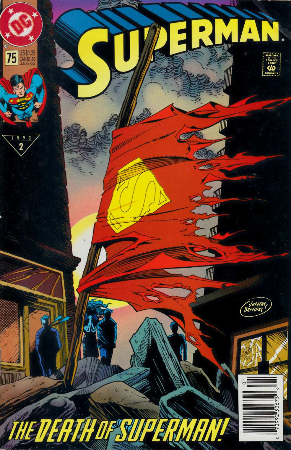 Superman #75 Newsstand Edition Fine (6.0) [Comic] LARGE