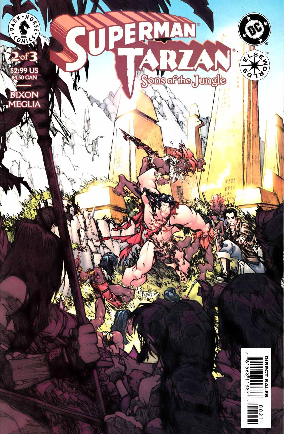 Superman Tarzan Sons of the Jungle #2 Very Fine (8.0) [DC Comic] LARGE