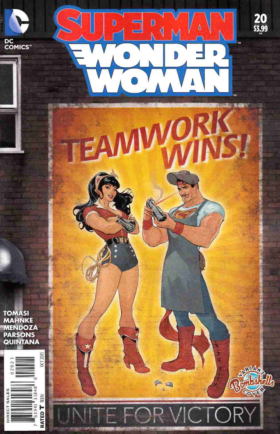 Superman Wonder Woman #20 Bombshells Variant Cover [DC Comic] THUMBNAIL