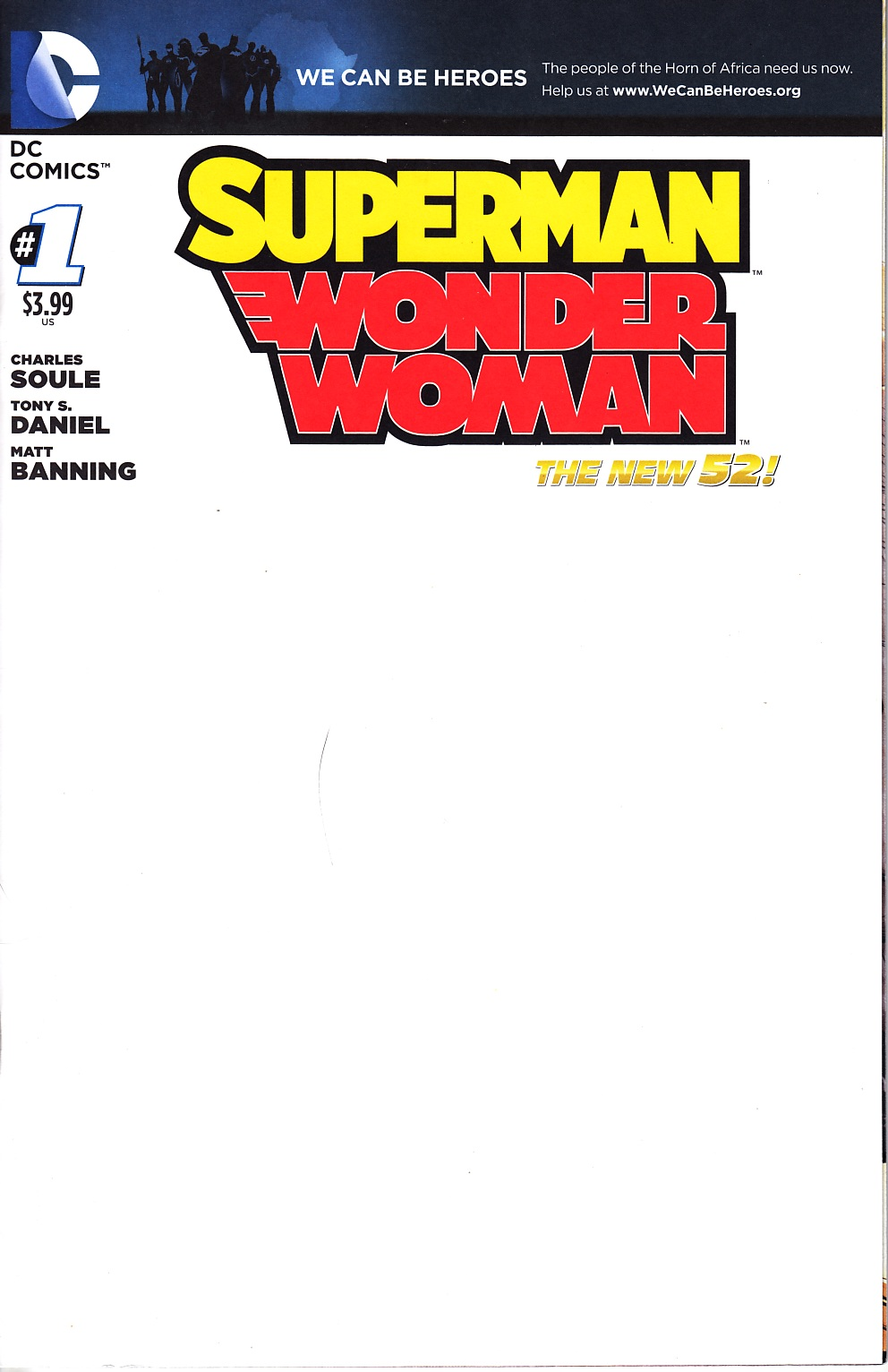 Superman Wonder Woman #1 We Can Be Heroes Blank Cover [DC Comic] THUMBNAIL