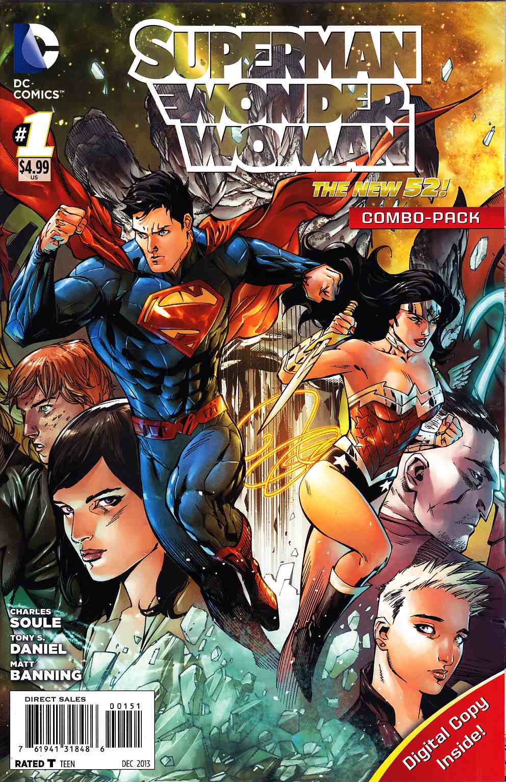 Superman Wonder Woman #1 Combo Pack [DC Comic] THUMBNAIL