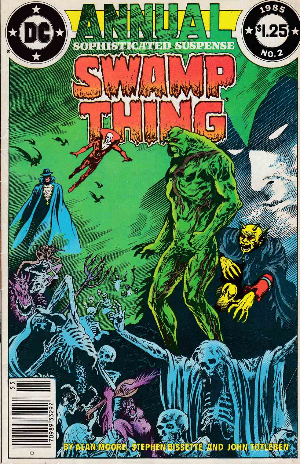 Swamp Thing Annual #2 Newsstand Edition Fine Minus (5.5) [DC Comic] THUMBNAIL