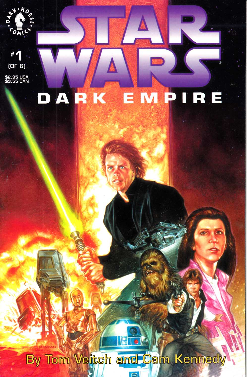 Star Wars Dark Empire #1 Very Fine (8.0) [Dark Horse Comic] THUMBNAIL