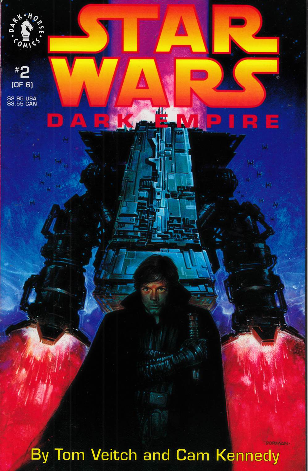 Star Wars Dark Empire #2 Near Mint Minus (9.2) [Dark Horse Comic] THUMBNAIL