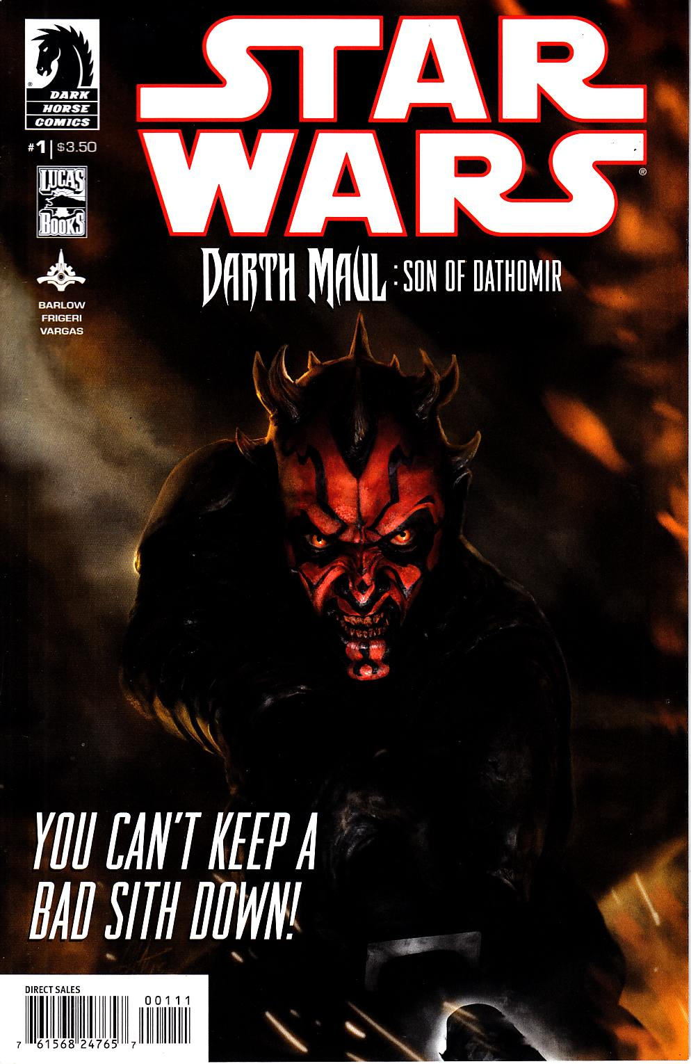 Star Wars Darth Maul Son Of Dathomir #1 [Dark Horse Comic] THUMBNAIL