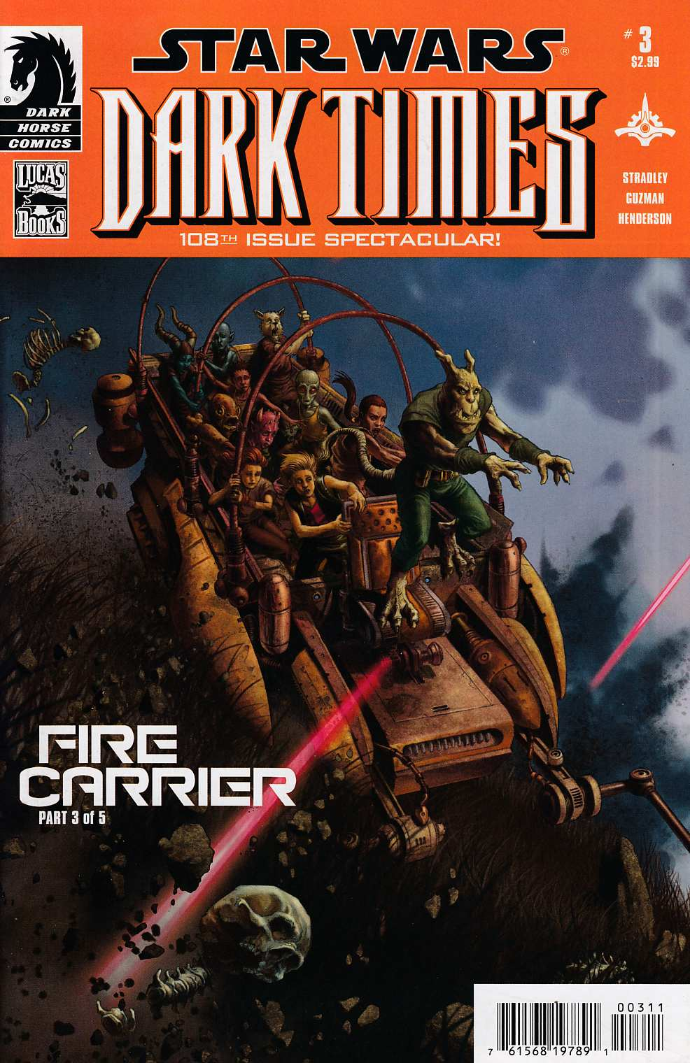 Star Wars Dark Times Fire Carrier #3 Near Mint (9.4) [Dark Horse Comic] THUMBNAIL