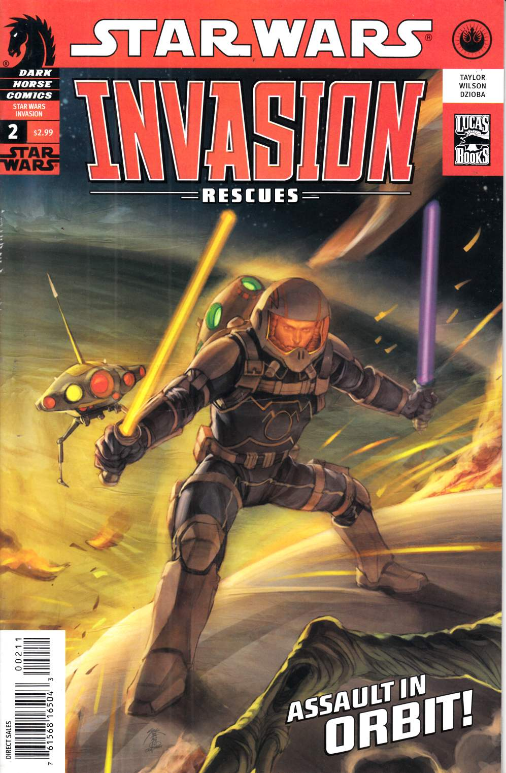 Star Wars Invasion Rescues #2 Very Fine Minus (7.5) [Dark Horse Comic] THUMBNAIL
