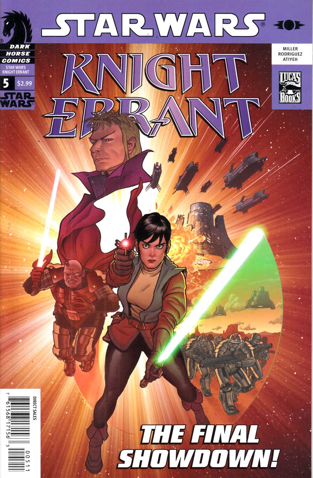 Star Wars Knight Errant Aflame #5 Very Fine (8.0) [Dark Horse Comic] THUMBNAIL