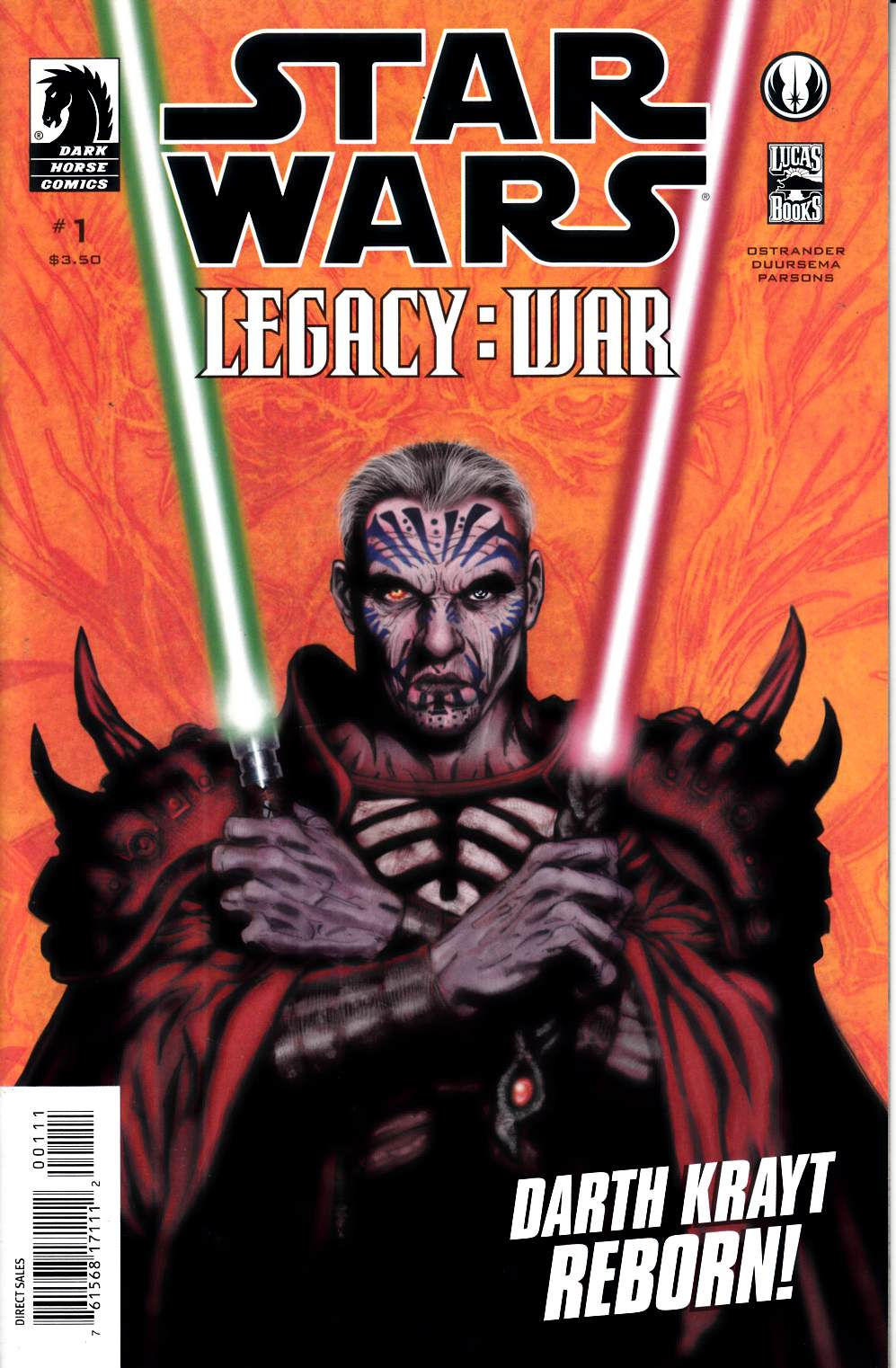 Star Wars Legacy War #1 Near Mint (9.4) [Dark Horse Comic] THUMBNAIL