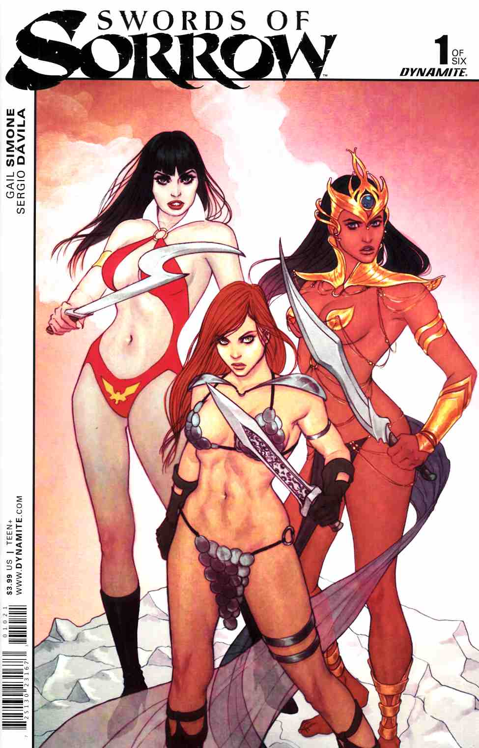 Swords Of Sorrow #1 Cover B- Frison [Dynamite Comic] THUMBNAIL