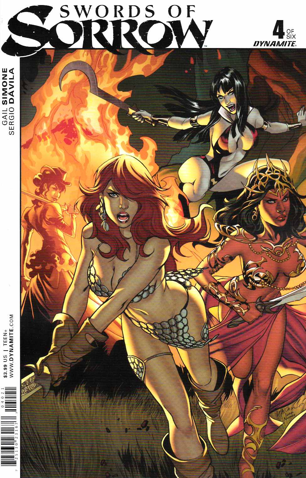 Swords of Sorrow #4 Cover B- Luppachino [Dynamite Comic] THUMBNAIL