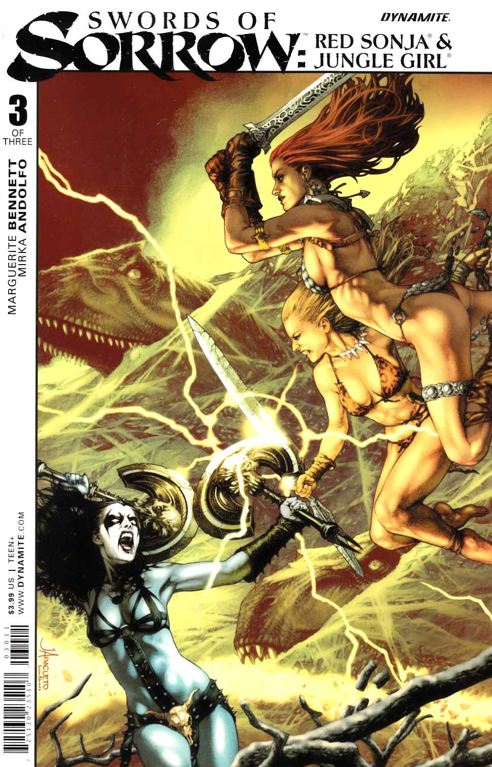 Swords of Sorrow Sonja Jungle #3 Cover A- Anacleto [DE Comic] LARGE