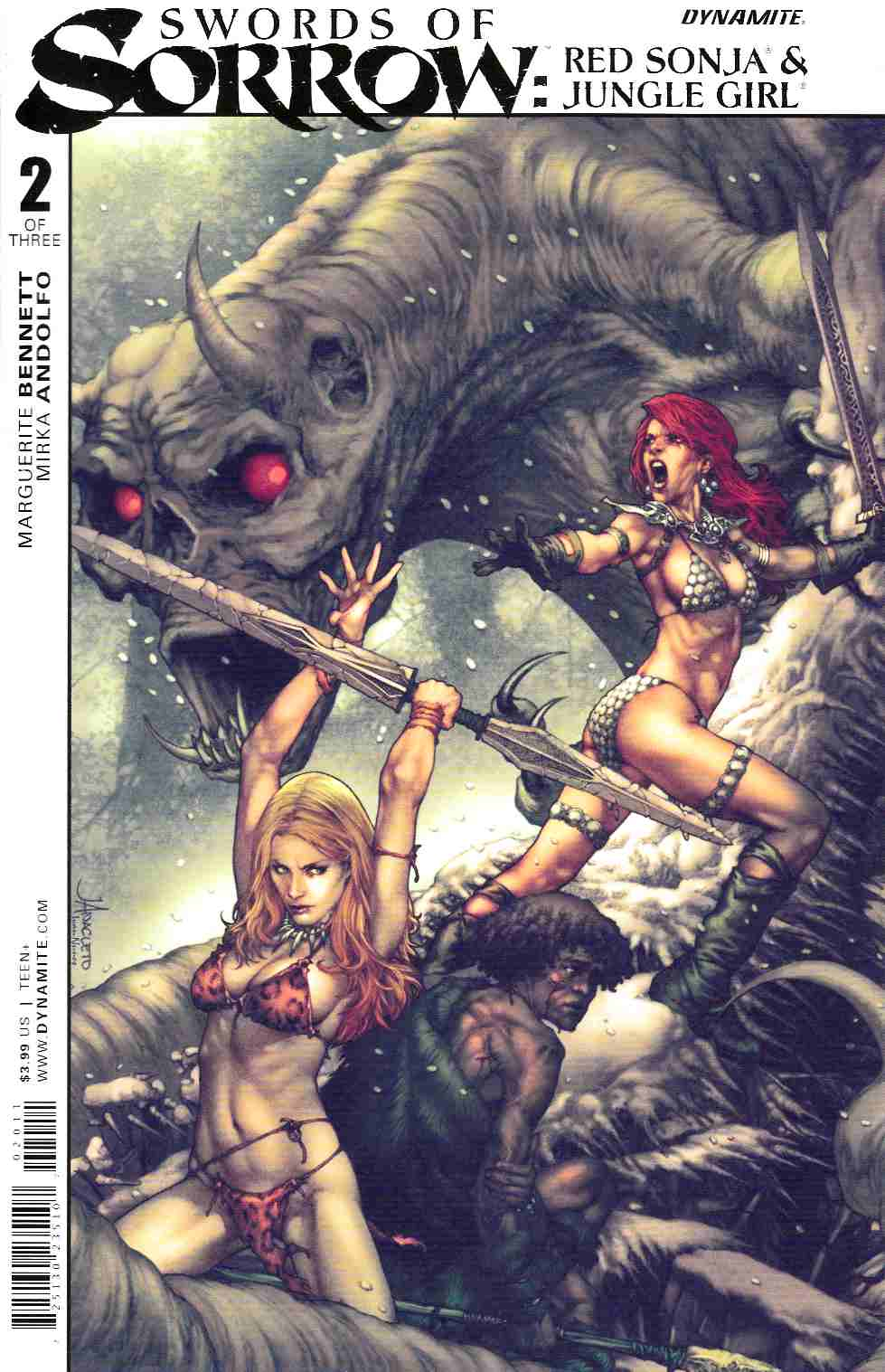 Swords of Sorrow Red Sonja and Jungle Girl #2 [Dynamite Comic] THUMBNAIL