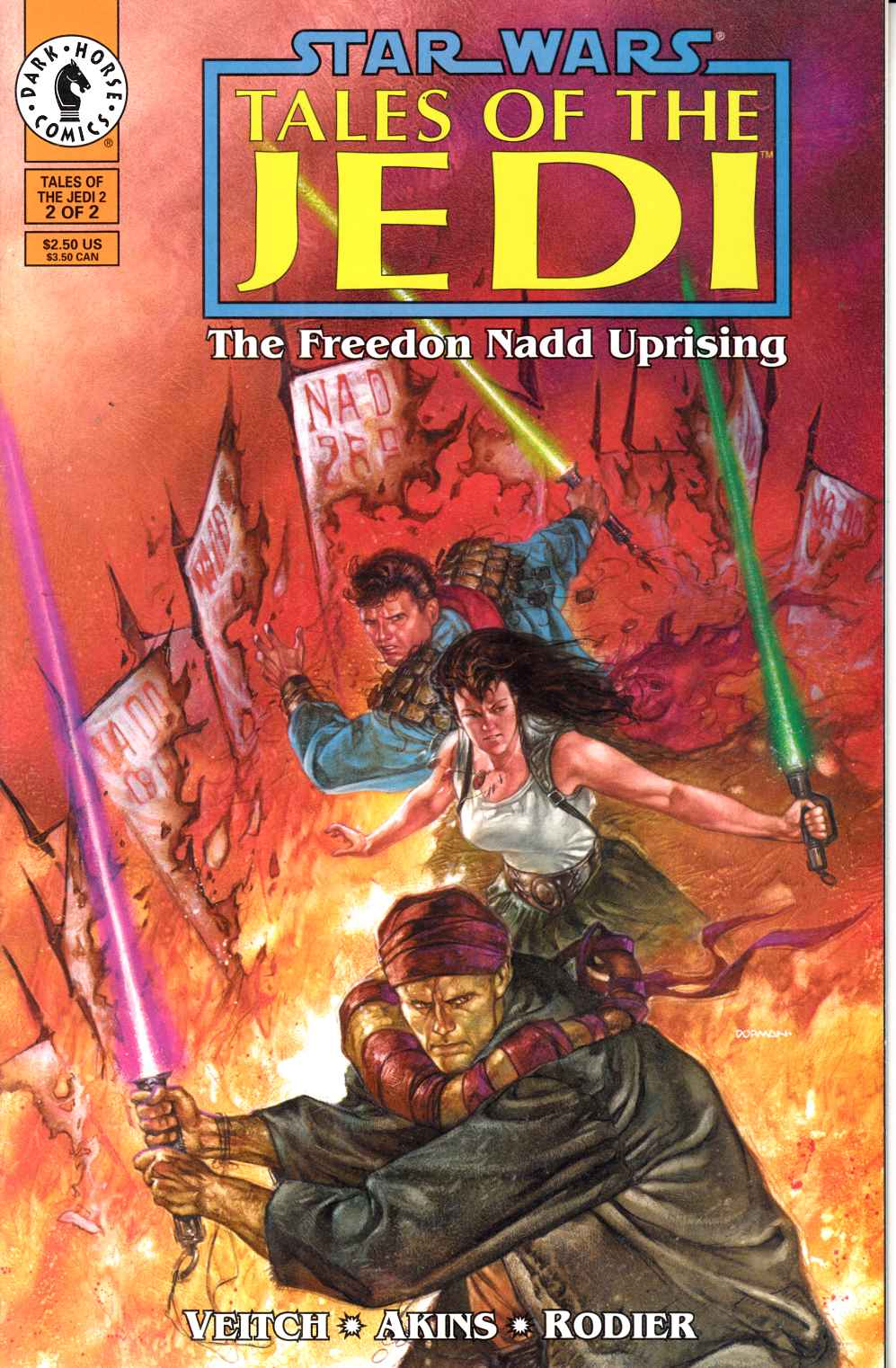 Star Wars Tales of the Jedi Freedon Nadd Uprising #2 Very Fine (8.0) [Dark Horse Comic] THUMBNAIL