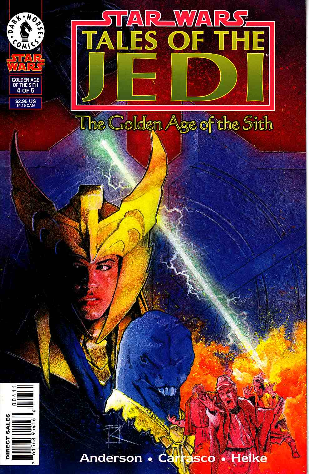 Star Wars Tales of the Jedi Golden Age of the Sith #4 Very Fine (8.0) [Dark Horse Comic] THUMBNAIL