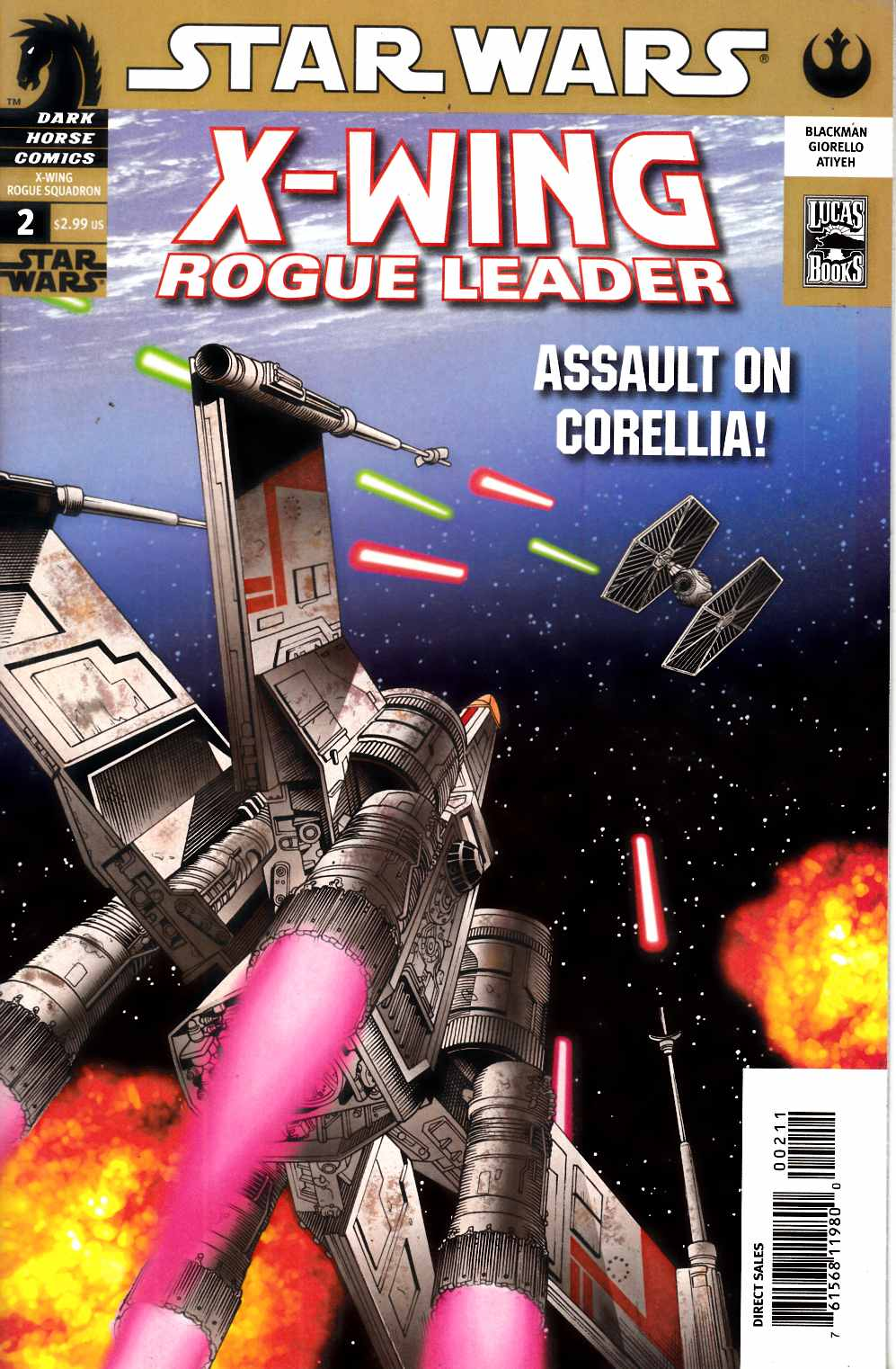 Star Wars X-Wing Rogue Leader #2 Very Fine (8.0) [Dark Horse Comic] THUMBNAIL