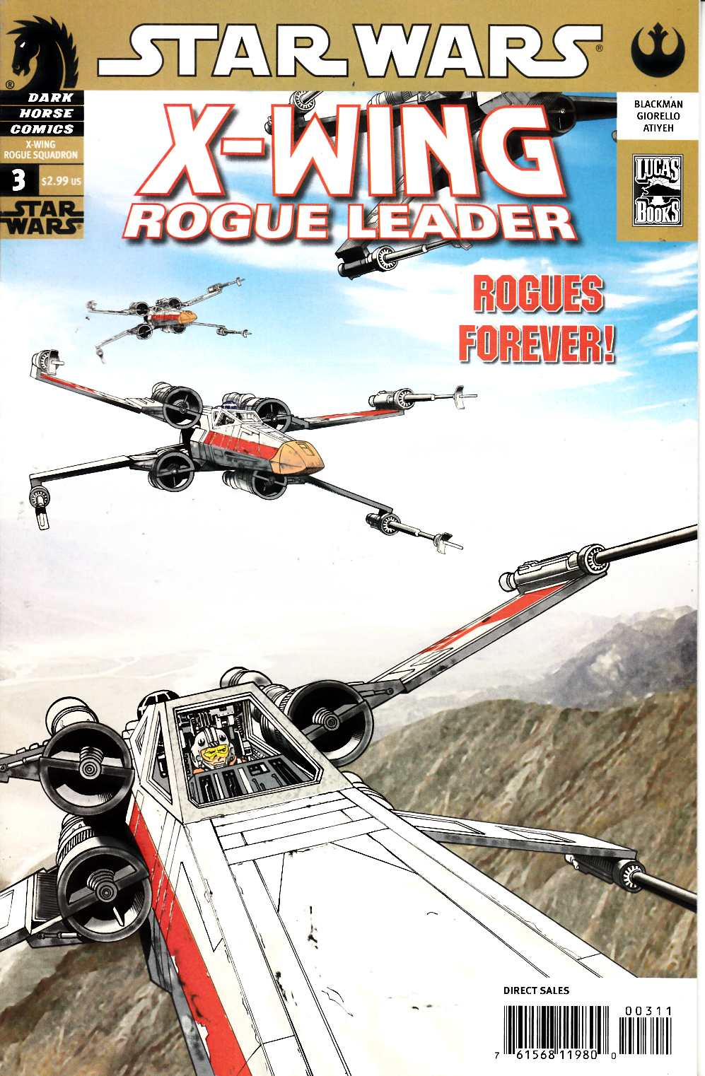 Star Wars X-Wing Rogue Leader #3 Very Fine (8.0) [Dark Horse Comic] THUMBNAIL