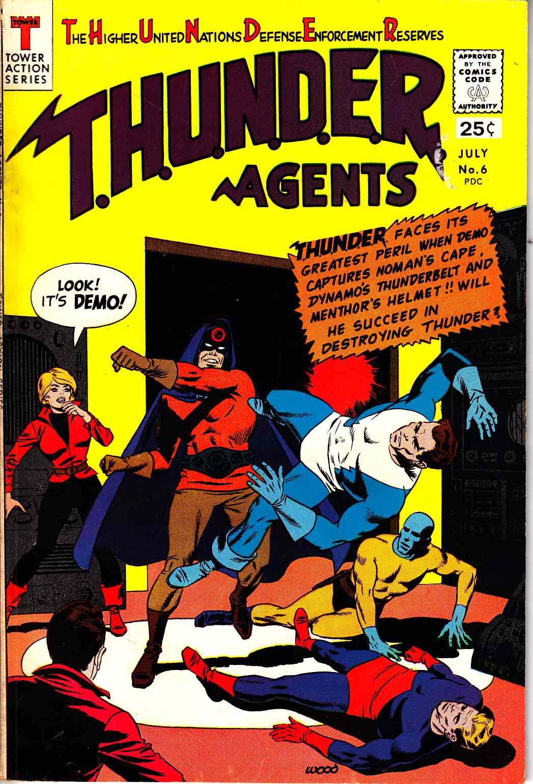 Thunder Agents #6 Very Good Plus (4.5) [Tower Comic] LARGE