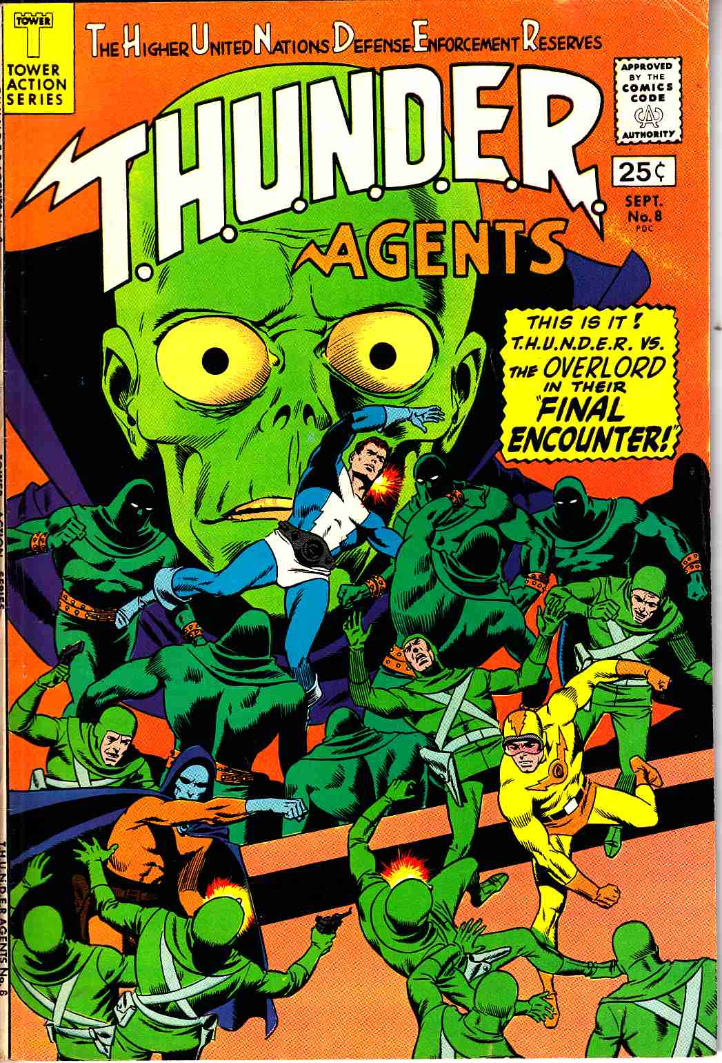 Thunder Agents #8 Fine (6.0) [Tower Comic] LARGE