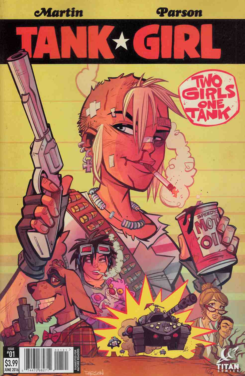 Tank Girl 2 Girls 1 Tank #1 Cover B [Titan Comic]