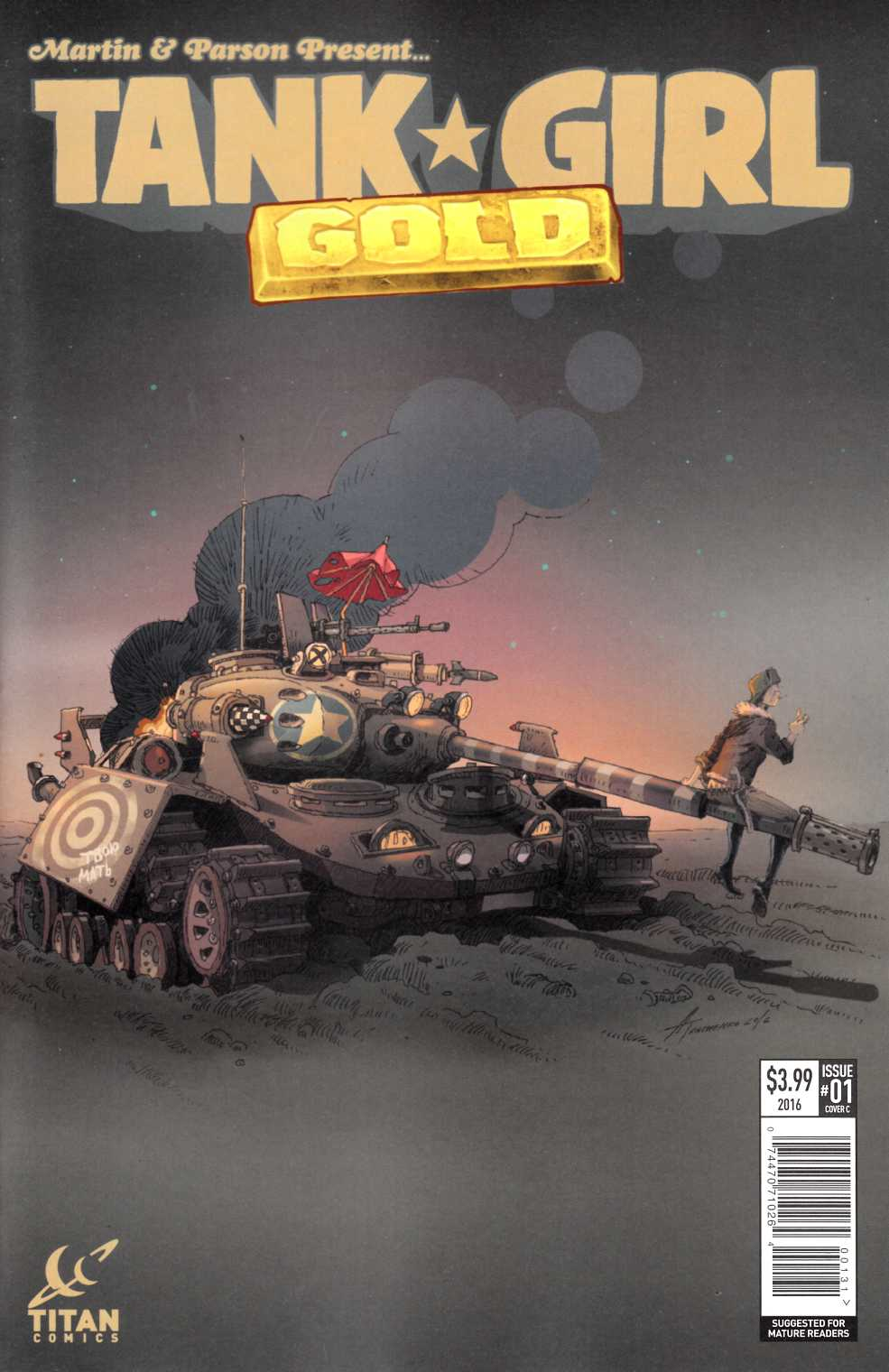 Tank Girl Gold #1 Cover C [Titan Comic] THUMBNAIL