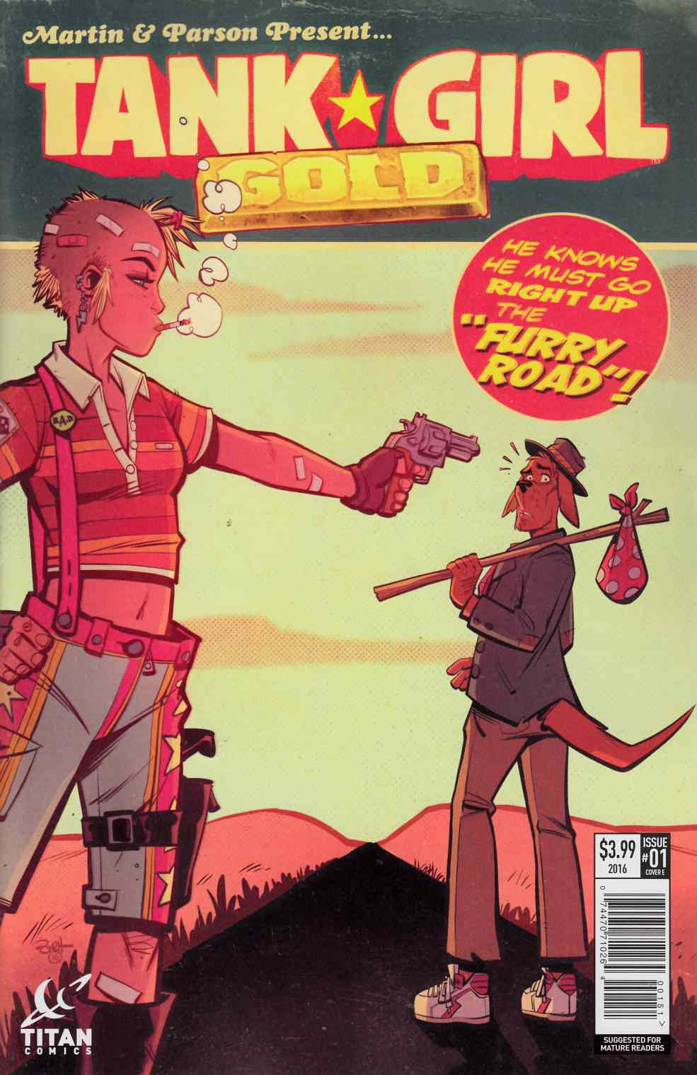 Tank Girl Gold #1 Cover E [Titan Comic]