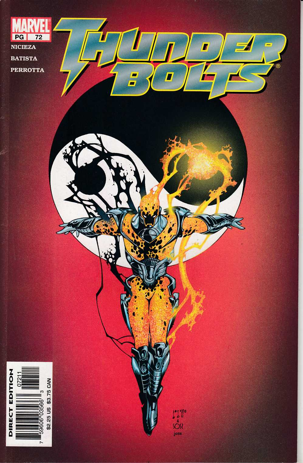 Thunderbolts #72 Very Fine (8.0) [Marvel Comic] LARGE