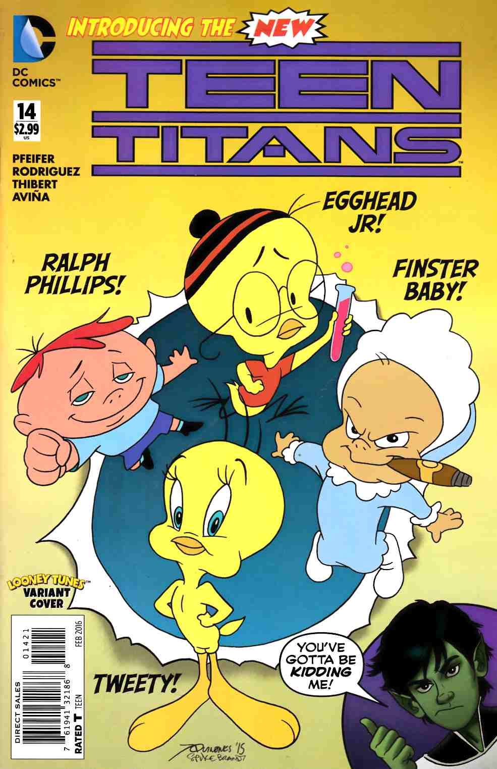 Teen Titans #14 Looney Tunes Variant Cover [DC Comic] LARGE