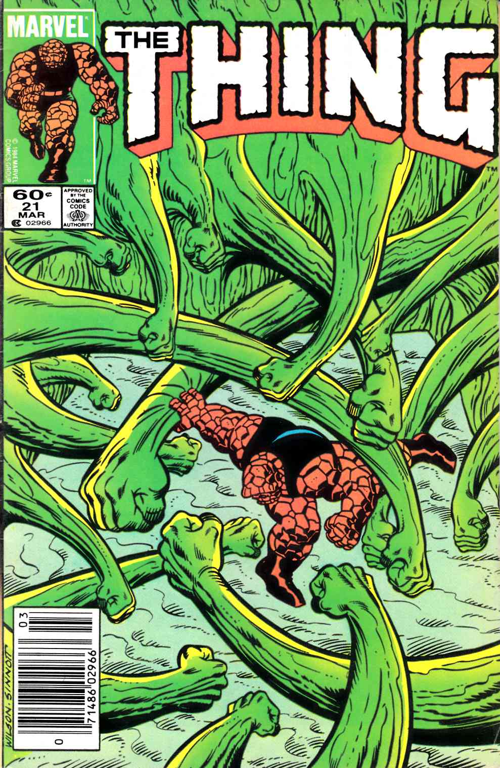 The Thing #21 Newsstand Edition Very Good (4.0) [Marvel Comic]